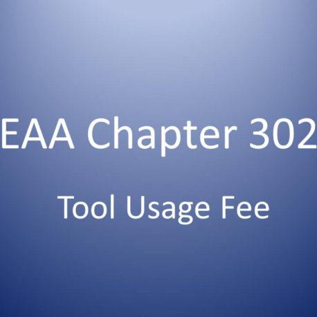 EAA302 Tool Usage Fee